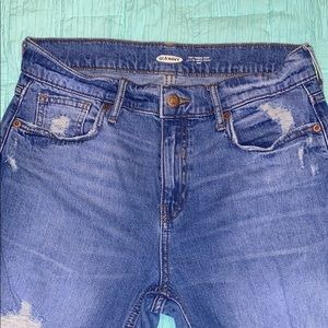 Old Navy distressed straight jeans